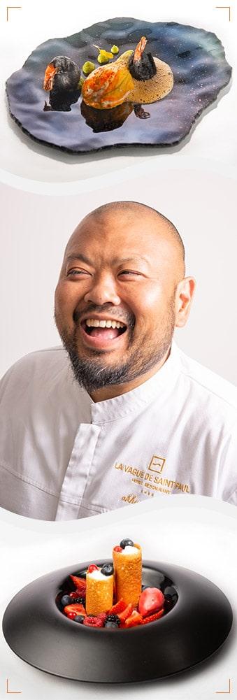 Chef Akhara Chay - restaurant Au Jardin de la Vague de Saint Paul