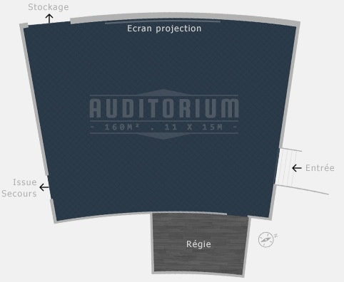 Plan salle Auditorium