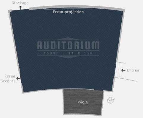Sitzplan Auditorium